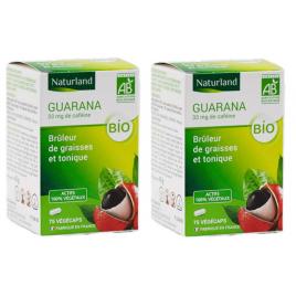 Naturland Guarana Minceur Lot de 2 boîtes de 75 gélules végécaps Naturland