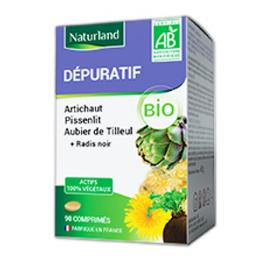 Naturland Aubier de Tilleul, Radis noir, Pissenlit, Artichaut 90 comprimés Naturland