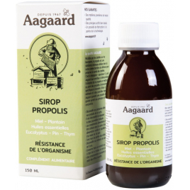 Aagaard Sirop Propoline Pectoral Apais' Toux Sirop Pectoral Flacon verre 150ml Aagaard