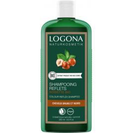 Logona Shampoing reflets noisette brun 250ml Logona