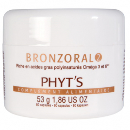 Phyts Bronzoral 2 Hydratant nourrissant naturel 80 capsules Phyts