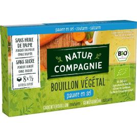 Natur Compagnie Bouillon cube végétal pauvre en sel 68 g Natur Compagnie