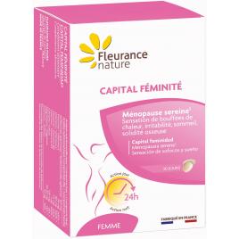 Fleurance Nature Capital féminité Jour et Nuit 60 comprimés Ménopause Fleurance Nature