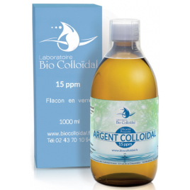 Bio Colloidal Argent Colloïdal 15 PPM 1 litre Bio Colloidal Onaturel