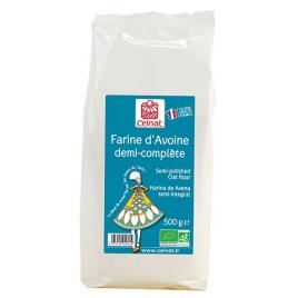 Celnat Farine d'avoine demi complète Celnat 500g Onaturel