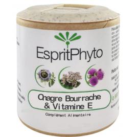EspritPhyto Onagre, Bourrache, Vitamine E 60 capsules Esprit phyto