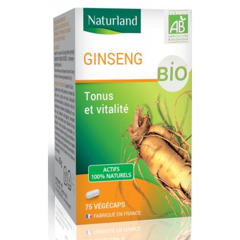 Naturland Ginseng Panax Bio 75 gélules végétales Naturland