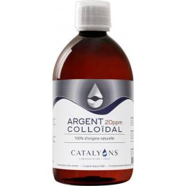 Catalyons Oligo élément ARGENT colloïdal 20 PPM 500 ml Catalyons
