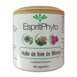 Esprit phyto Huile De Foie De Morue 60 capsules de 500mg Esprit phyto