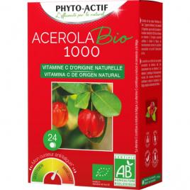 Phyto-Actif Acérola Bio 1000 AB 24 comprimés Lot de 2 Tubes Phyto-Actif