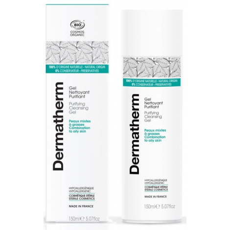 Dermatherm Gel nettoyant Purifiant peaux mixtes et grasses 150 ml Dermatherm