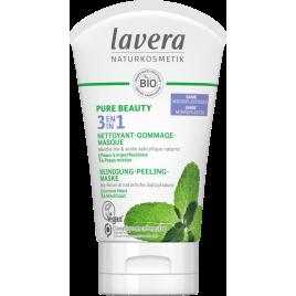 Lavera 3 en 1 Pure Beauty Nettoyant Gommage Masque 125ml Lavera