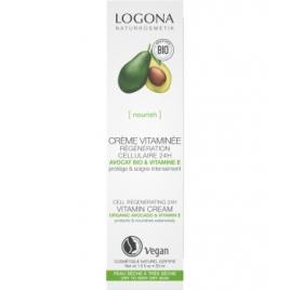Logona Crème vitaminée régénération cellulaire 24h Avocat bio et vitamine E 30ml Logona