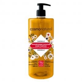 Cosmo Naturel Shampoing douche sans parfum à l'extrait de Camomille 1L Cosmo Naturel