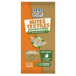 Aries Piège à mites textile, 2 recharges Mitbox Onaturel