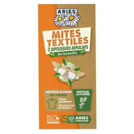 Aries Protection Anti Mites Textiles 2 Diffuseurs répulsifs Onaturel Lavandin répulsif