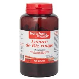 Nat et Form Levure de Riz rouge 600 mg 120 gélules 83,4g Nat et Form