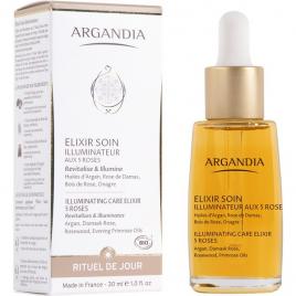 Argandia Elixir Soin Illuminateur aux 5 roses Visage 30ml Argandia