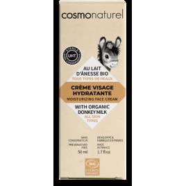 Cosmo Naturel Crème visage hydratante au lait d'ânesse toutes peaux 50ml Cosmo Naturel