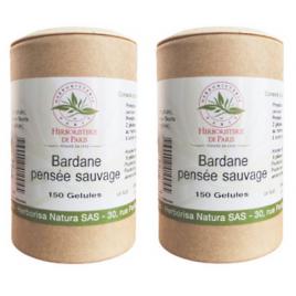 Herboristerie de paris Bardane Pensée Sauvage lot de 2 boites 150 gélules végétales Herboristerie De Paris