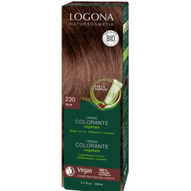 Logona Crème colorante Teck cheveux blonds foncés à châtains 150ml Logona
