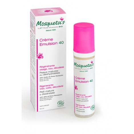 Mosqueta's Emulsion 40 à l'huile de Rose musquée 50ml Onaturel