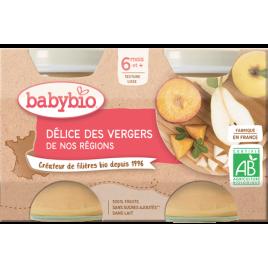 Babybio Petits pots Délice des vergers de nos régions 2X 130g dès 6 mois 260g Babybio