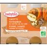 Babybio Petits Pots Carottes Potimarron Pomme Canard fermier du Poitou dès 8 mois 2x200g Babybio