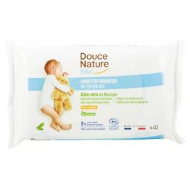Douce Nature 40 Lingettes bébé Calendula et Camomille 100% coton bio
