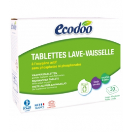 Ecodoo 30 tablettes Lave Vaisselle à l'Oxygène actif 600g Ecodoo