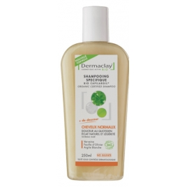 Dermaclay Shampoing usages fréquents Argile blanche 250ml Dermaclay