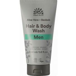 Urtekram shampoing douche 2 en 1 homme Aloe Vera Baobab 150 ml Onaturel