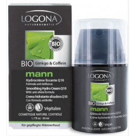 Crème Hydratante Lissante Q10 Logona Mann 50ml Logona