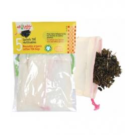 Sachets thé et tisane réutilisables, lot de 5 Ah Table