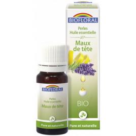 Biofloral Perles d'huiles essentielles complexe Maux de tête 20ml Onaturel