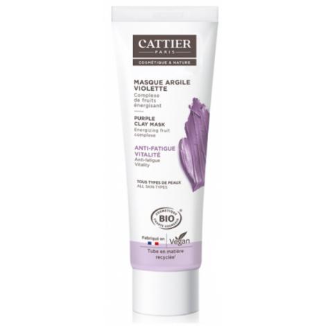 Cattier Masque anti fatigue à l'argile violette 100 ml Cattier