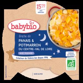 Babybio Mon Assiette Bonne nuit gratin de Panais Potimarron dès 15 mois 260g Babybio
