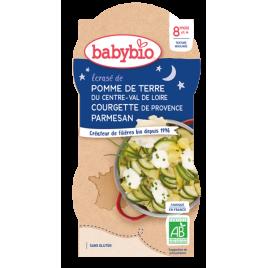 Babybio Bol Bonne nuit Pomme de terre Courgette de Provence dès 8 mois 2 x 200g Babybio
