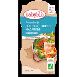 Babybio Bols Printanière de Légumes Saumon et Macaronis dès 12 mois 2 x 200g Babybio