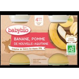 Babybio Petits pots Pommes Bananes 2X 130g dès 4 mois 260g Babybio