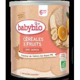 Babybio Céréales 3 fruits avec Quinoa dès 6 mois 220g Babybio