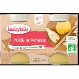 Babybio Petits pots Poires de Provence 2x130g dès 4 mois 260g Babybio