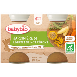 Babybio Petits pots Jardinière de légumes 2x130g dès 4 mois 260g Babybio