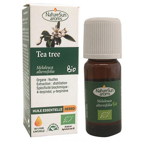 Huile essentielle Tea tree bio 10ml Natursun' aroms Onaturel antiseptique immunité
