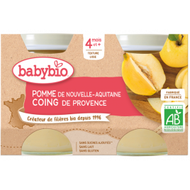 Babybio Petits pots Pommes Coings 2X 130g dès 4 mois 260g Babybio