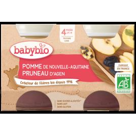 Babybio Petits pots Pommes Pruneaux 2X 130g dès 4 mois 260g Babybio