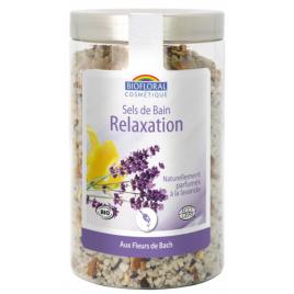Biofloral Sels de bain Relaxation Silice et Fleurs de Bach 320gr Onaturel