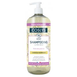 Coslys Shampooing Ultra doux cheveux normaux à la reine des prés d'Auvergne 1L Coslys