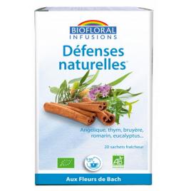 Biofloral Infusion Défenses Naturelles Hiver 20 sachets 24g immunité protection Onaturel