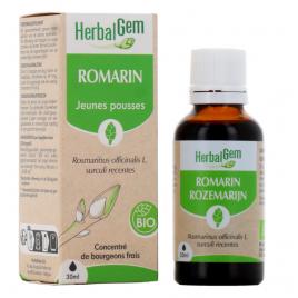 Herbalgem Gemmobase Romarin bio Flacon compte gouttes 50ml Herbalgem Gemmobase